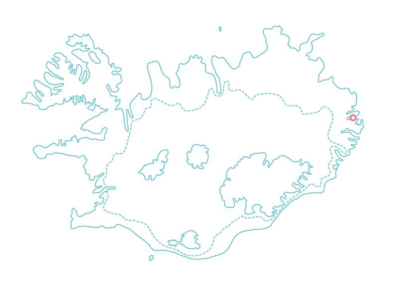 Iceland Map Mjoifjordur