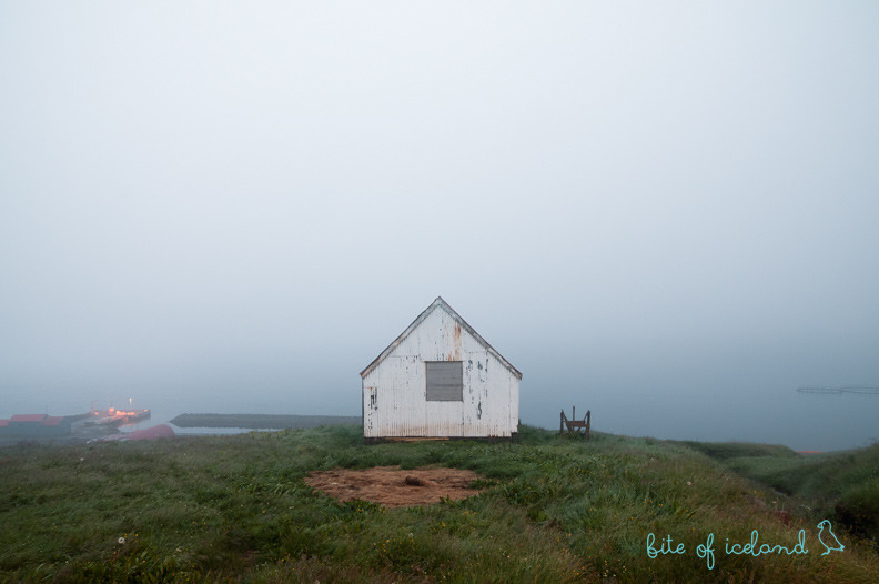 Small hut in Mjoifjordur, Iceland