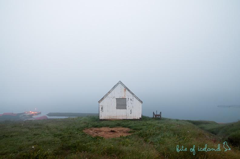 Small hut in Mjoifjordur, Iceland