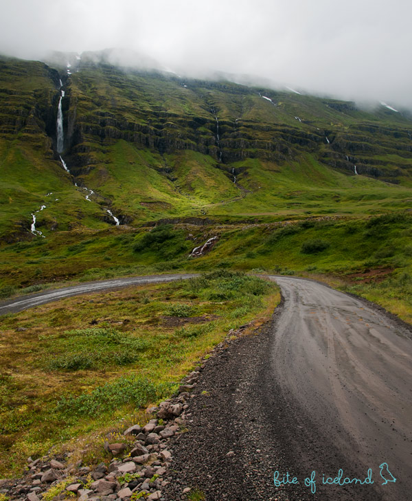Road to Mjoifjordur, Iceland