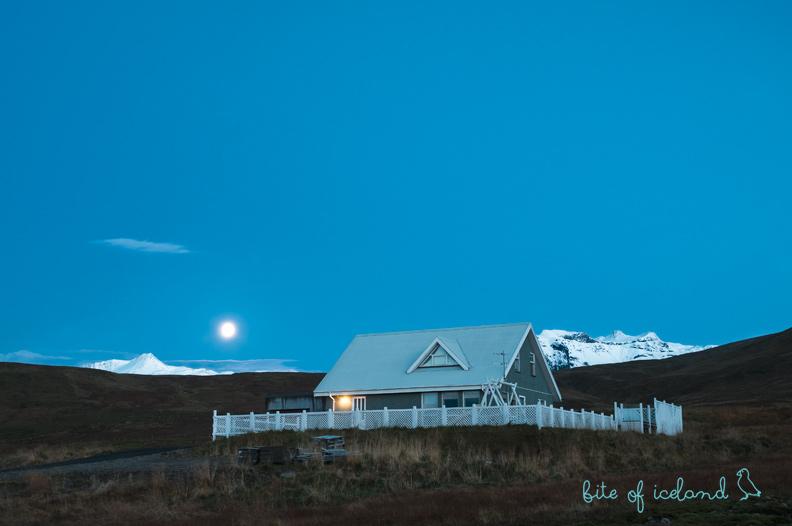 Lonely house in the moonlight Grundarfjörður