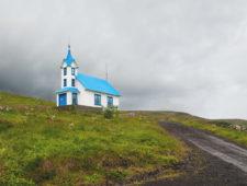 Night in the church – Kirkjubær in Stöðvarfjörður
