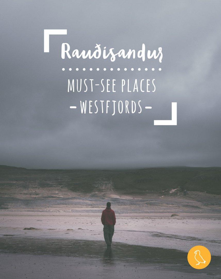 Do you want to try sunbathing the Icelandic way? Raudisandur | Red sand beach | Westfjords