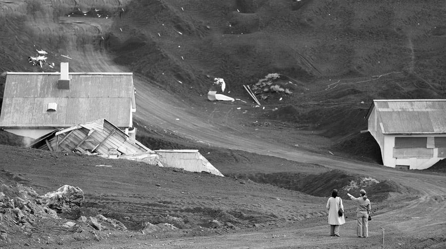 Vestmannaeyjar Eldfell 1973