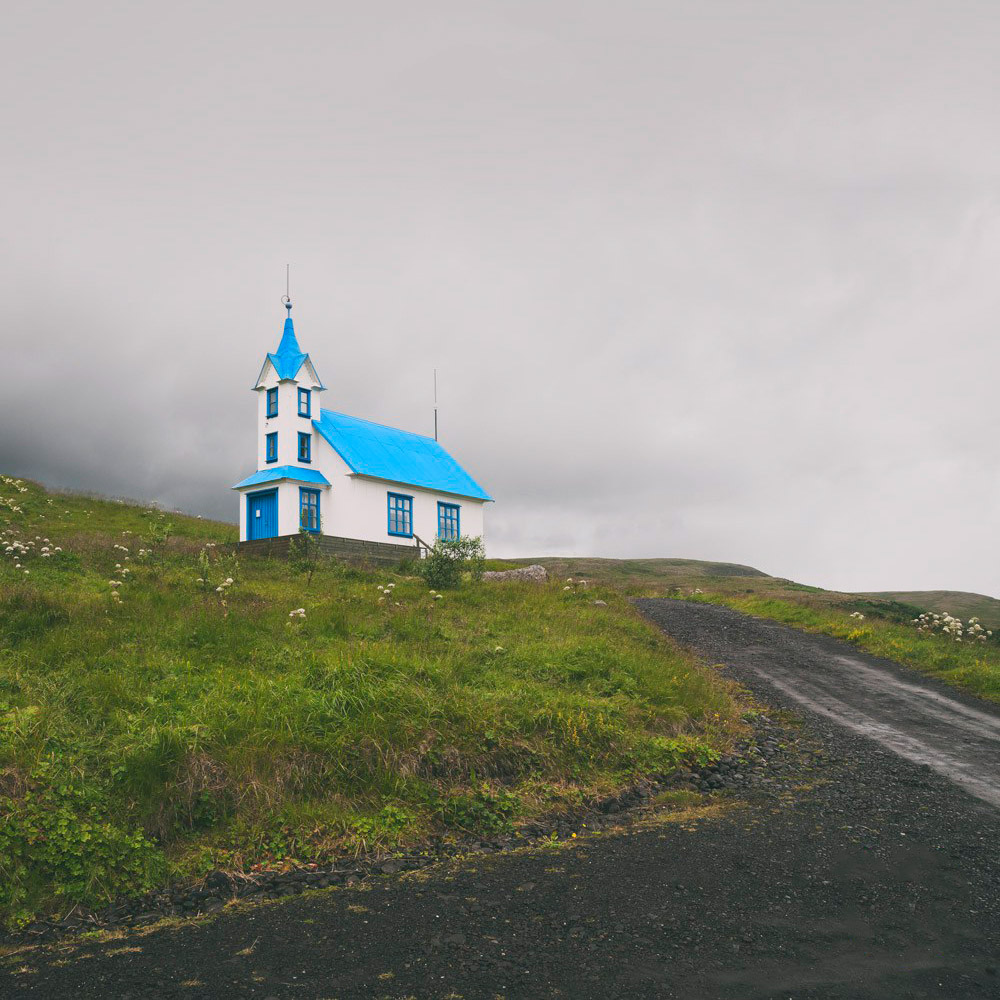 East Fjords Iceland church