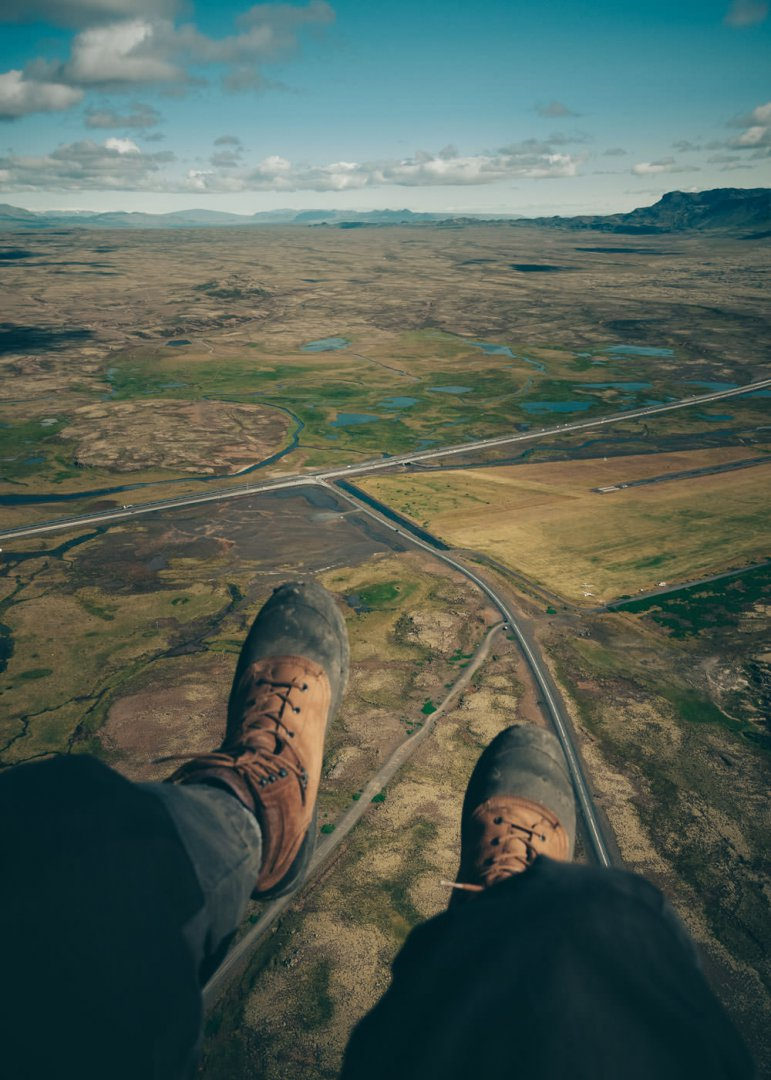 Paragliding in Iceland