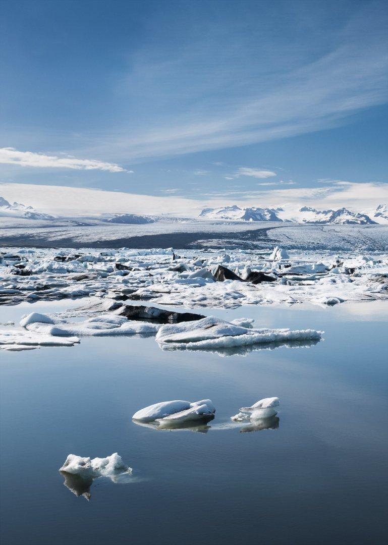 Islandia laguna lodowcowa Jokulsarlon