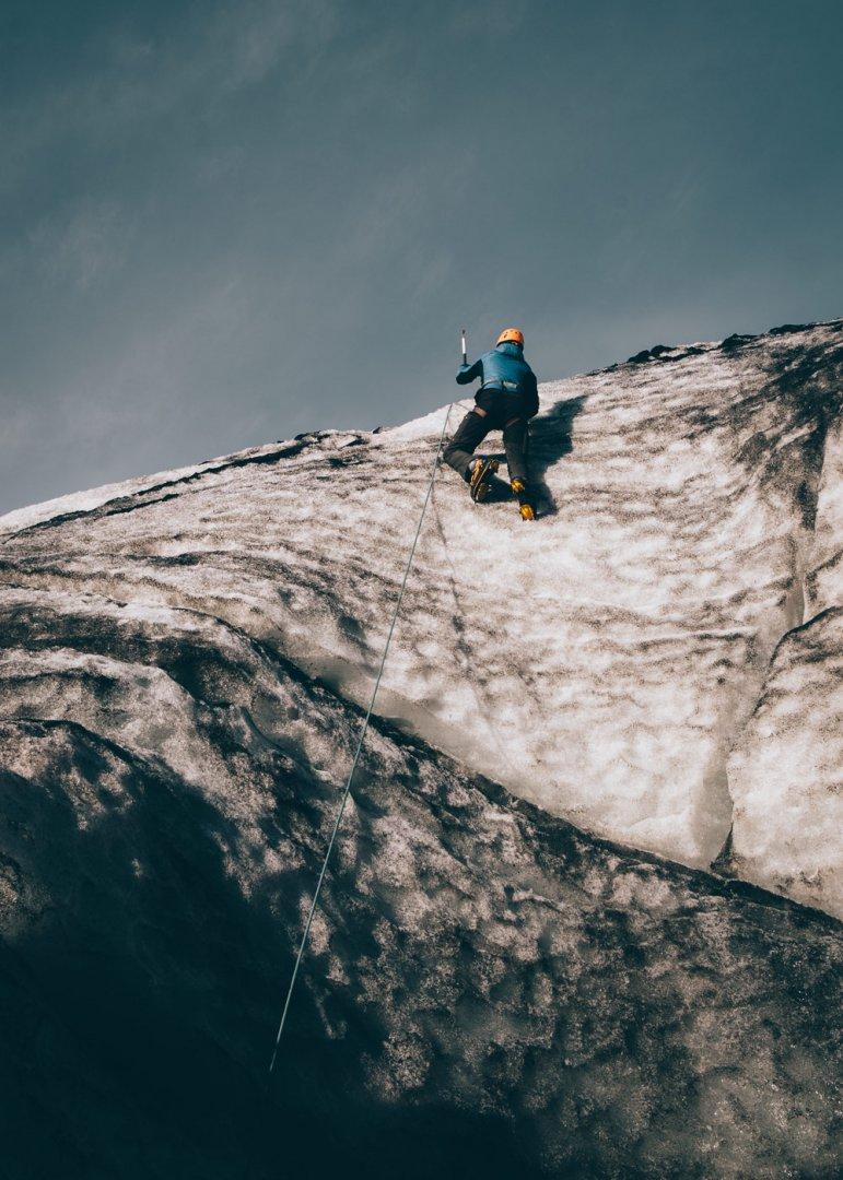 Islandia lodowiec Solheimajokull