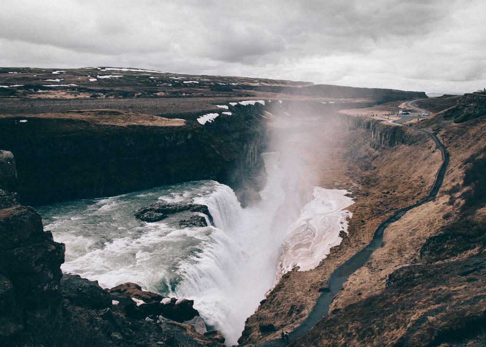 Islandia atrakcje Gullfoss Golden Circle