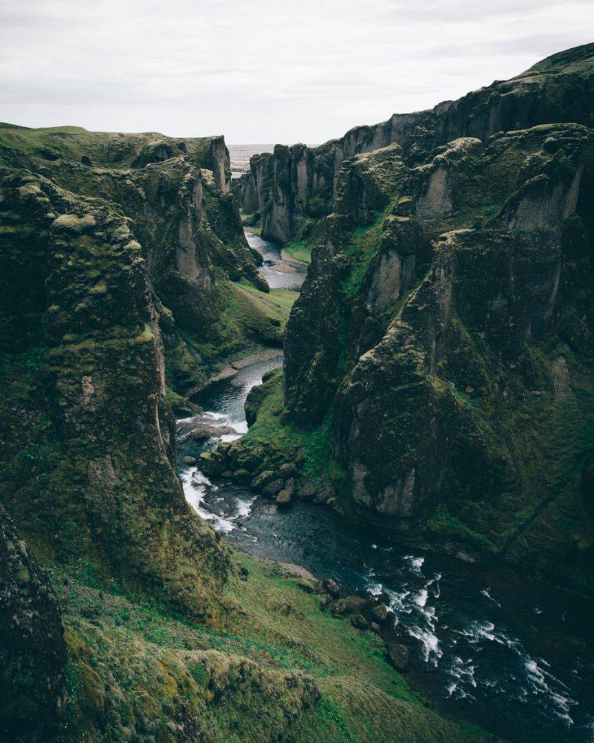 Islandia trzeba zobaczyc kanion Fjadrargljufur
