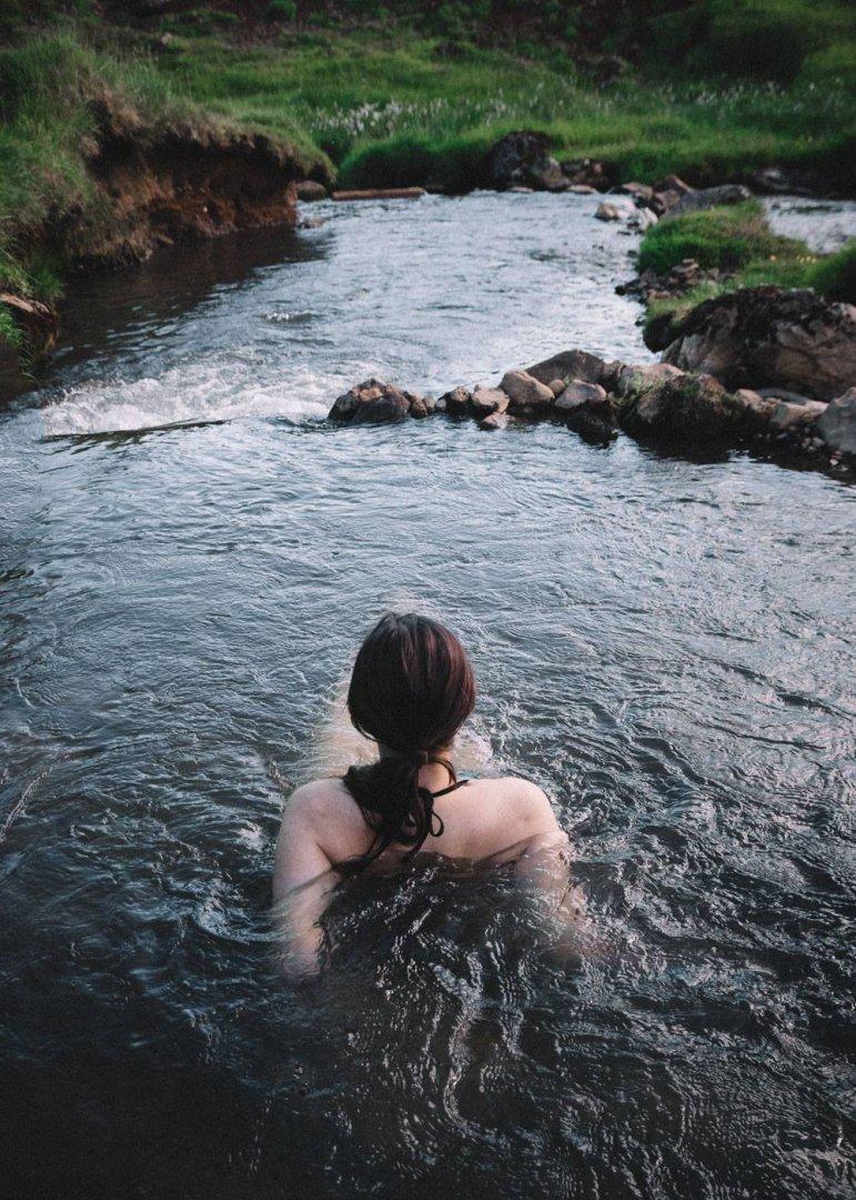 Reykjadalur hot springs valley Iceland