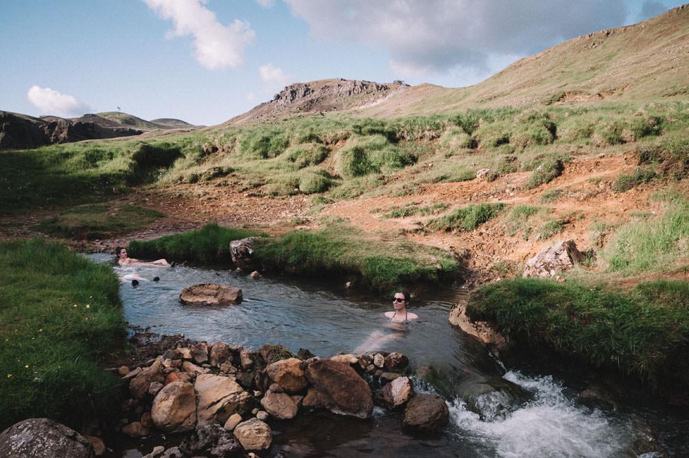 Gorące źródła Islandia Hveragerdi Reykjadalur