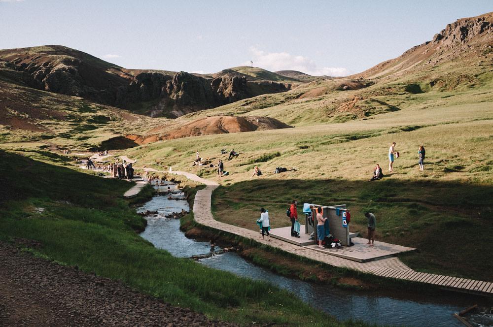 Gorące źródła Islandia Reykjadalur