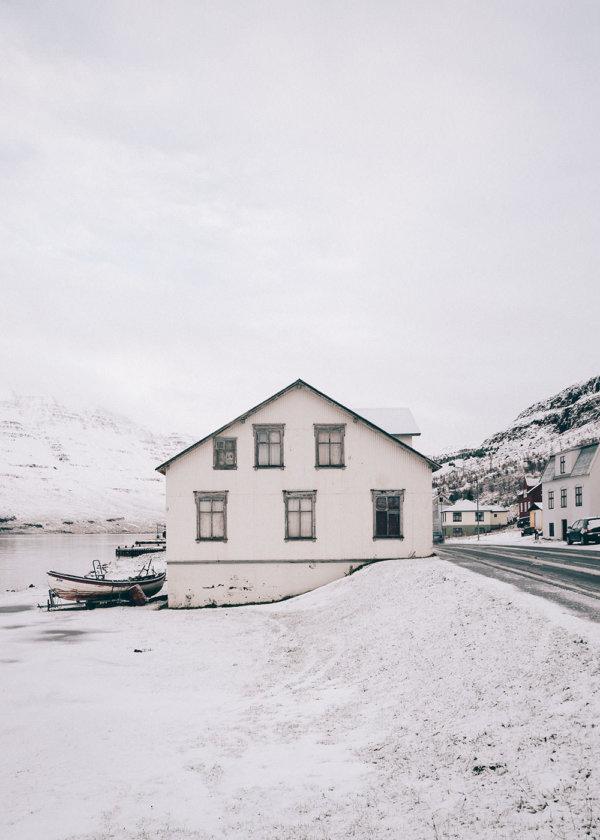 Dom w Seydisfjordur, Islandia