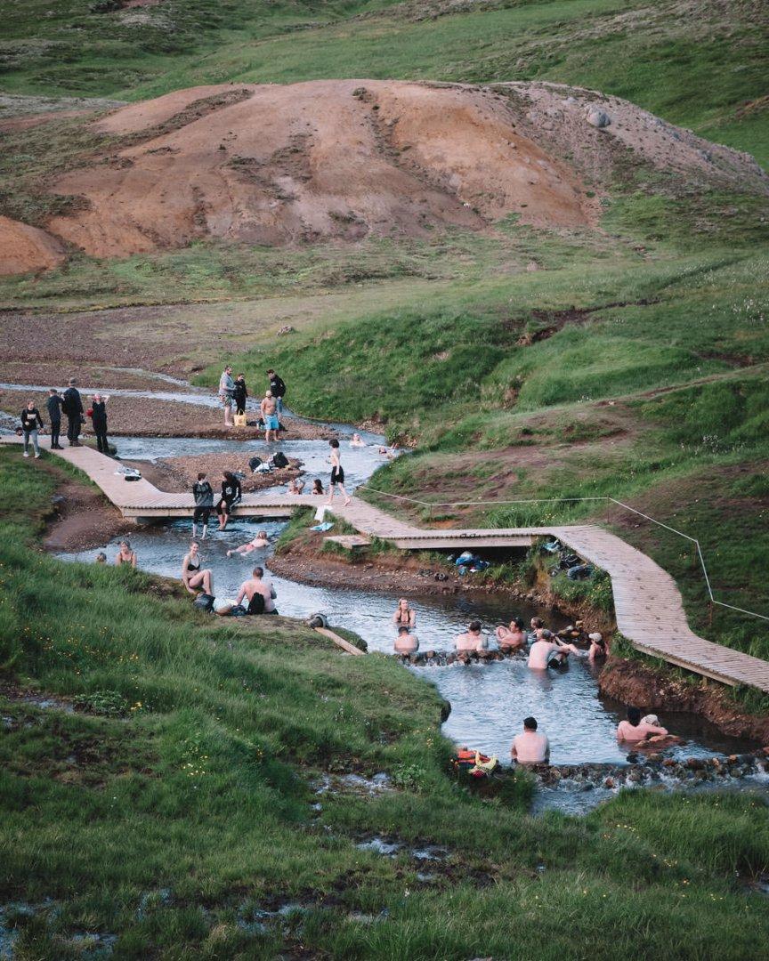 Reykjadalur Islandia wody termalne