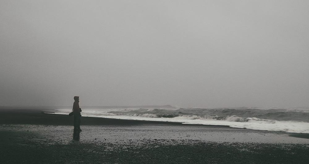 Czarna plaża Reynisfjara Vik Islandia