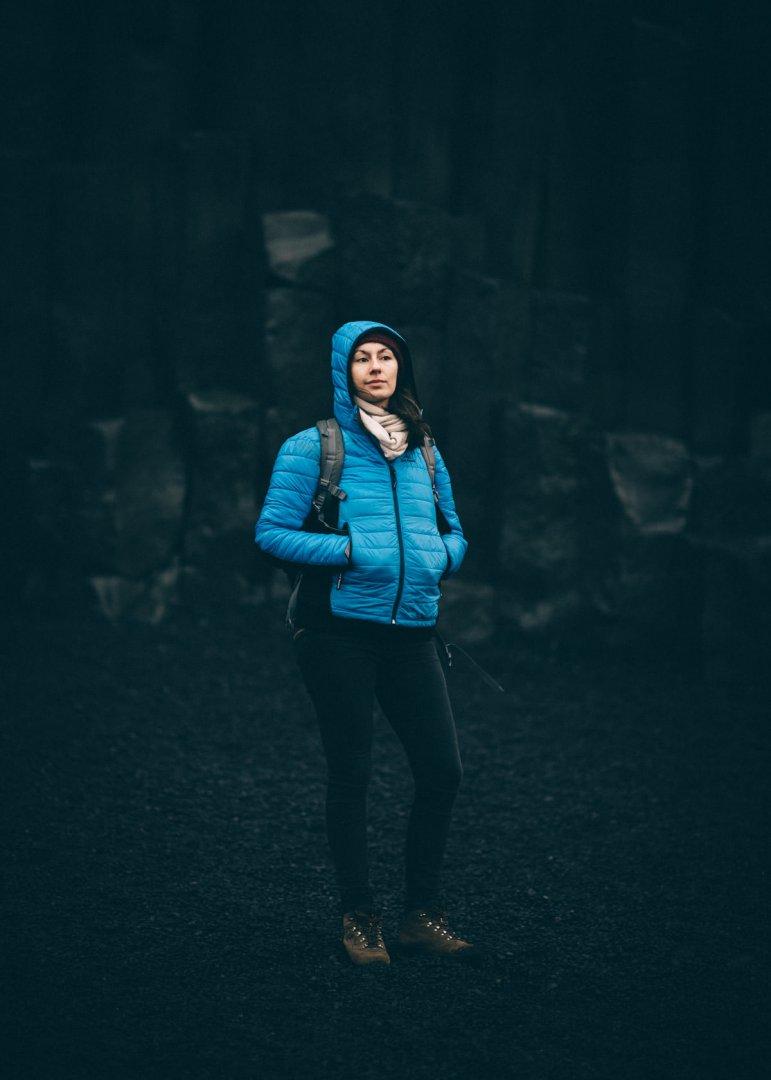 Kurtka Fjord Nansen Idunn recenzja test czarna plaża Reynisfjara Islandia