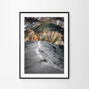 Icelandic print of colourful mountains Landmannalaugar. Check out Icelandic fine art prints by Adam Biernat.