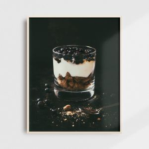 Kitchen wall decor - Icelandic skyr dessert. Beautiful kitchen wall art by Adam Biernat.