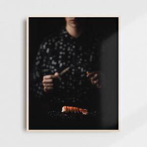 Plakat do kuchni - islandzka langustynka. Fotografia kolekcjonerska - Adam Biernat.
