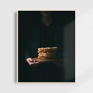 Plakat do kuchni - laufabrauð. Fotografia kolekcjonerska - Adam Biernat.