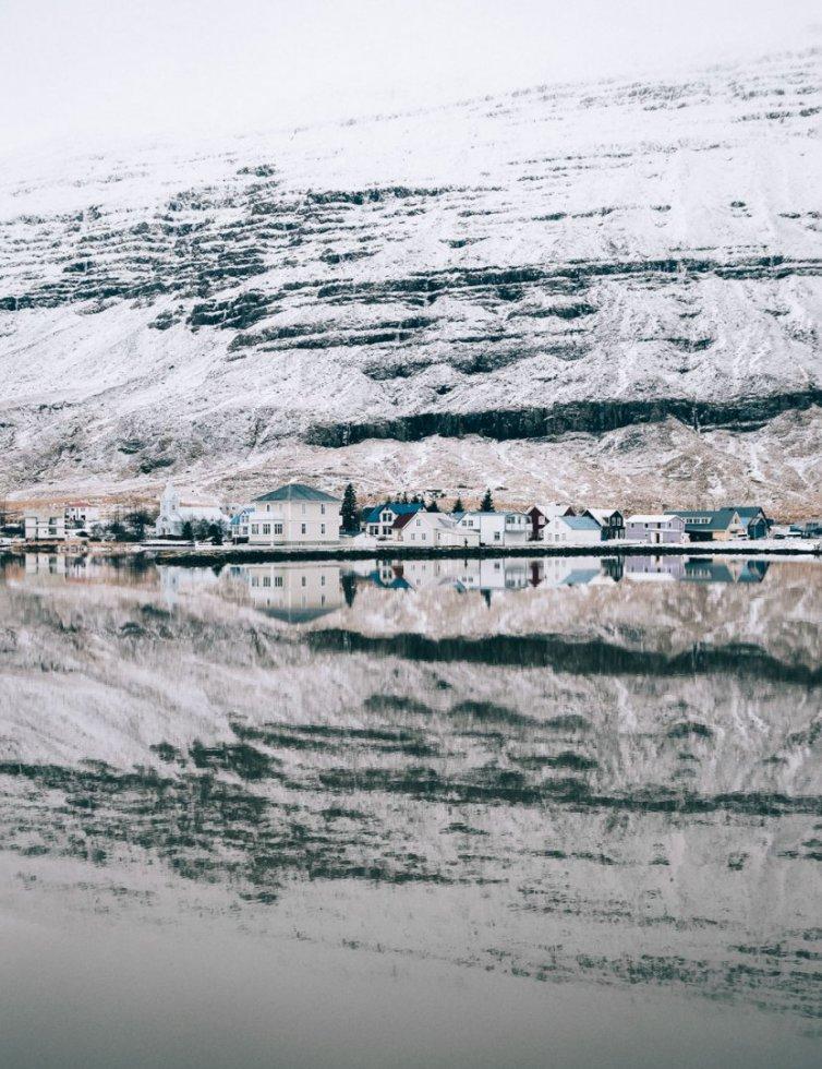 Zima w Seyðisfjörður