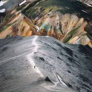 Icelandic print of colourful mountains Landmannalaugar. Check out Icelandic prints and posters by Adam Biernat.